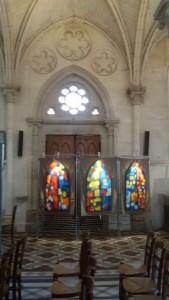 Exposition à l'Eglise St AUbin d'Houlgate pendant la Vague d'Art mai 2015