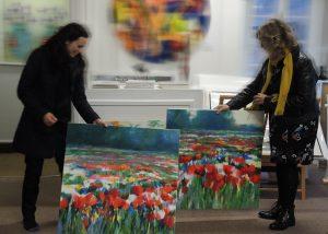 At Wychwood Art Gallery with Deborah Allan